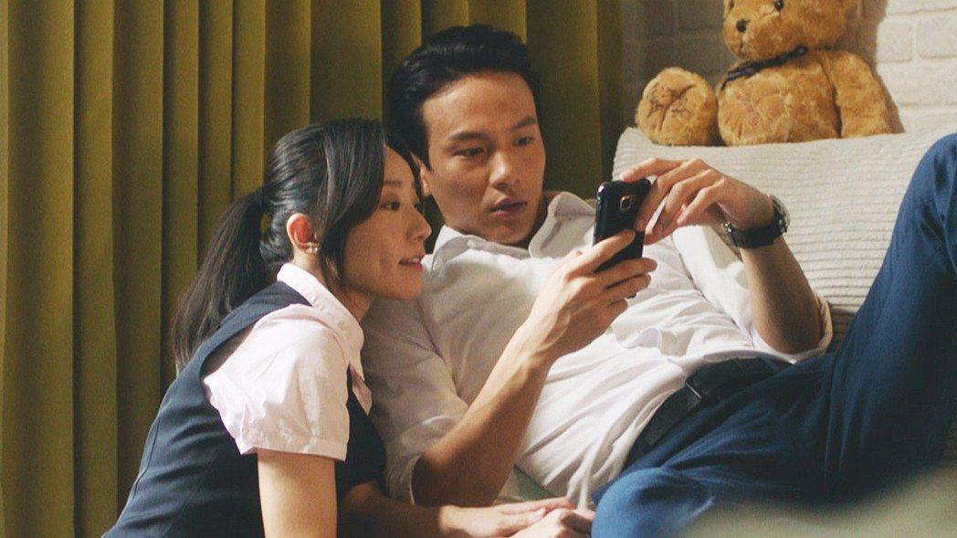 林子熙(左)在「噬罪者」中是曹晏豪的正牌女友。圖/公視提供