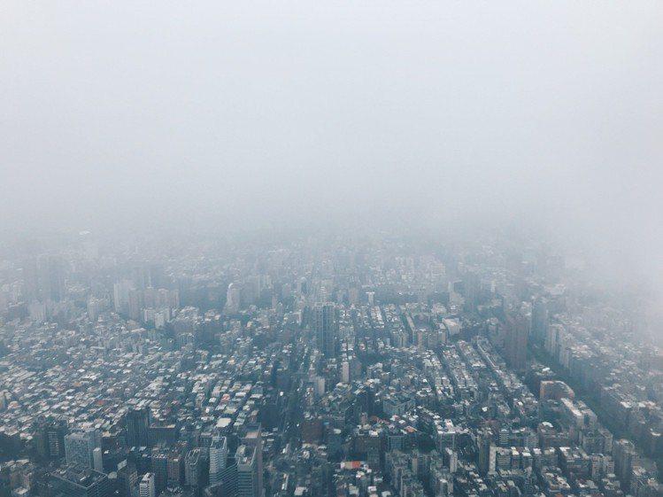 在「101 Skyline 460」俯瞰的景緻。記者江佩君/攝影