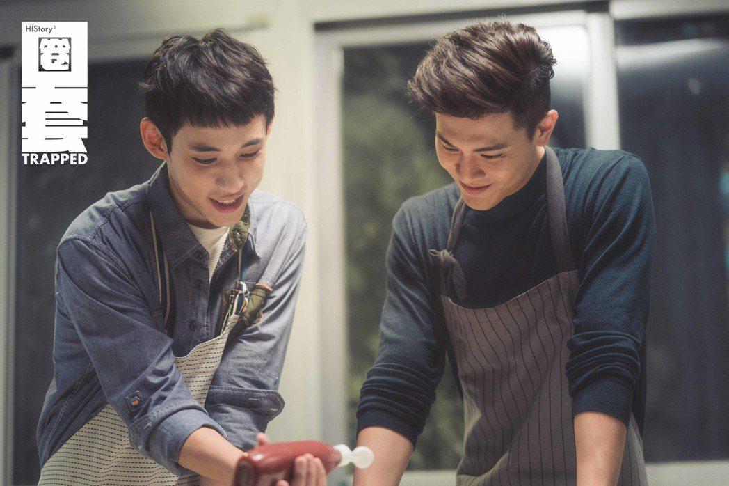 徐鈞浩(左)與吳承洋在「圈套」中相知相愛。圖/CME提供