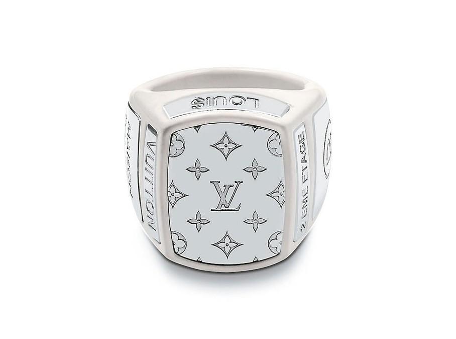 路易威登男裝系列白瓷戒指,價格未定。 圖/LV提供