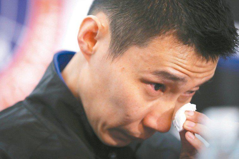 李宗偉淚眼宣布退休。 美聯社