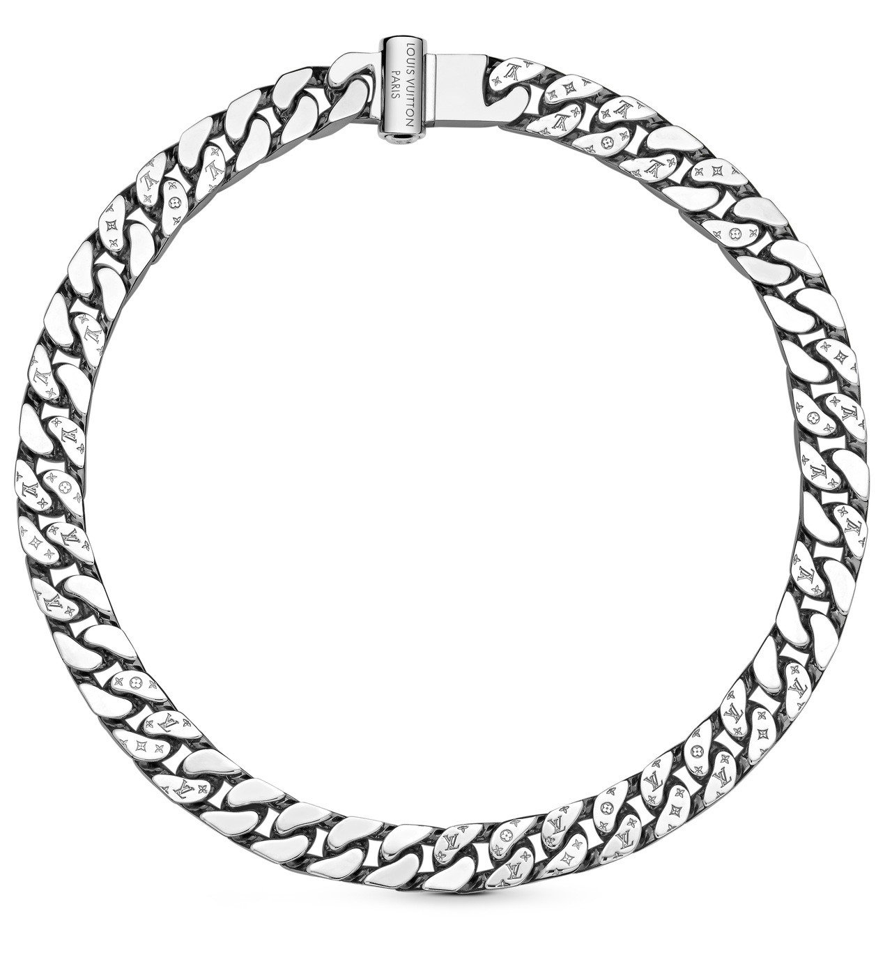 路易威登男裝系列頸鍊,約39,300元。 圖/Louis Vuitton提供