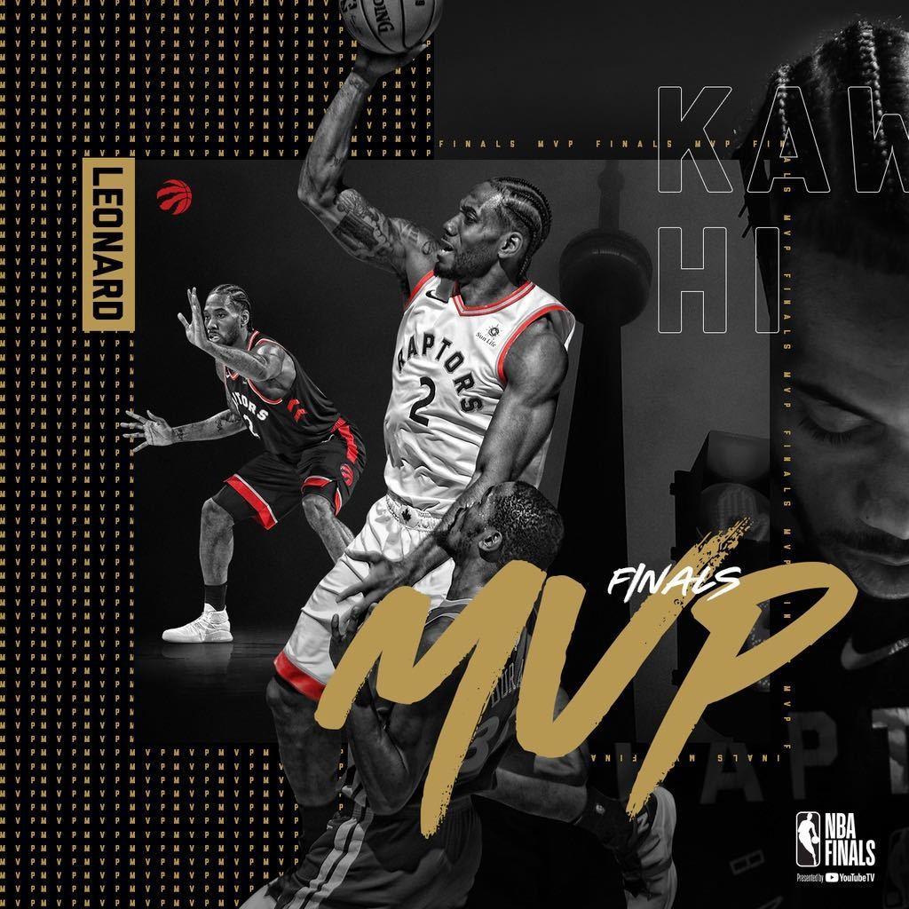 雷納德獲選為總冠軍賽MVP。 擷圖自暴龍隊推特