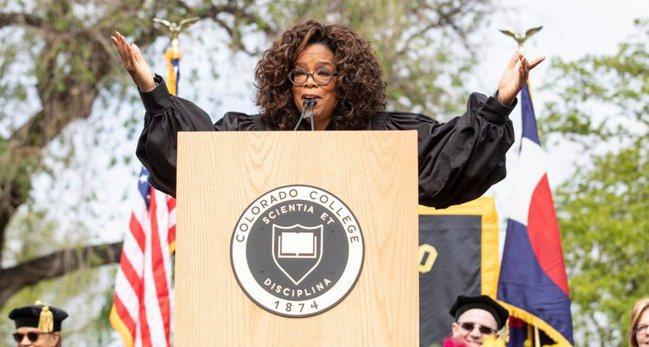 歐普拉.溫芙蕾(Oprah Winfrey)告訴畢業生:「你每天做的事情,將會累...