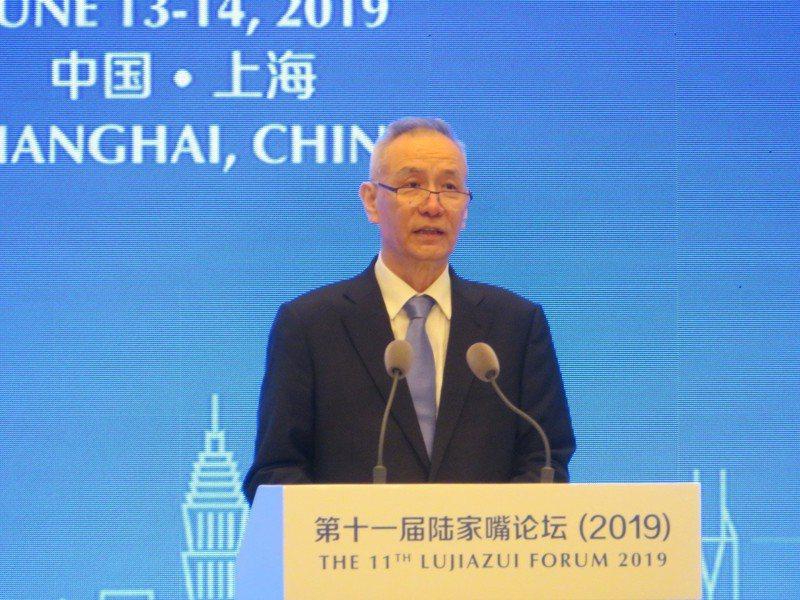 中國副總理劉鶴在談及當前中國宏觀經濟情勢時坦言「確實有一些外部壓力」。世界日報記者/林則宏攝影