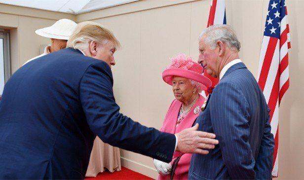 美國總統川普上週訪英,與英國女王、威爾斯親王查爾斯會面。 路透社