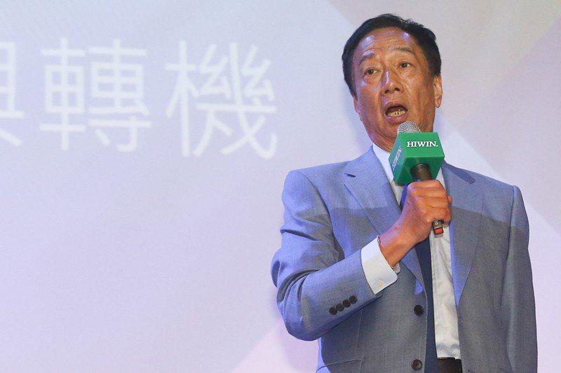 郭台銘宣布參選國民黨總統初選後,頻頻打出經濟牌,但卻說不清為何將原本群創光電的華為訂單交由深超光電統包。 圖/聯合報系資料照