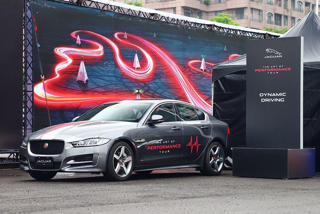 Dynamic Driving關卡可分別體驗Jaguar XE、XF以及跨界跑旅...
