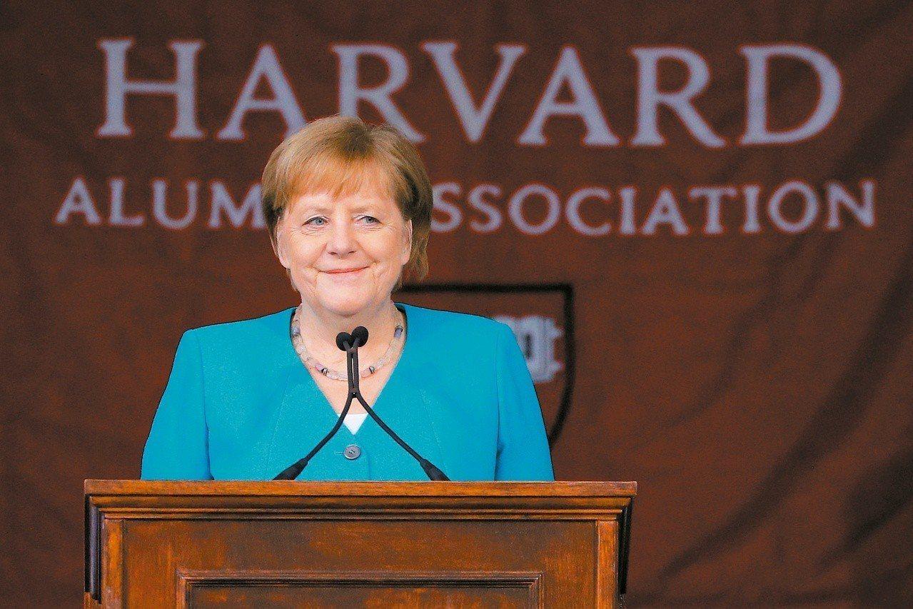 德國總理安格拉‧梅克爾(Angela Dorothea Merkel)出席美國哈...