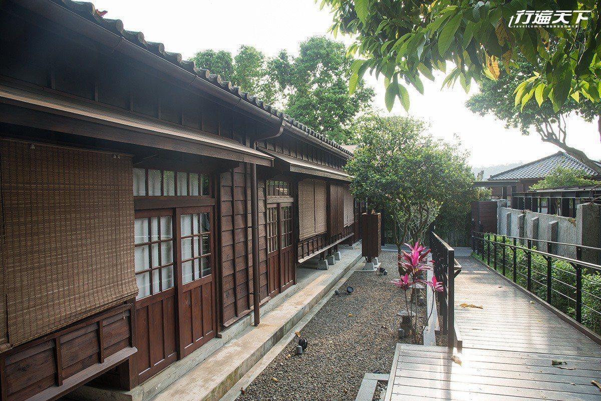 大溪木藝生態博物館的「四連棟」及「藝師館」,是由23戶大溪警察宿舍群其中7戶修復...