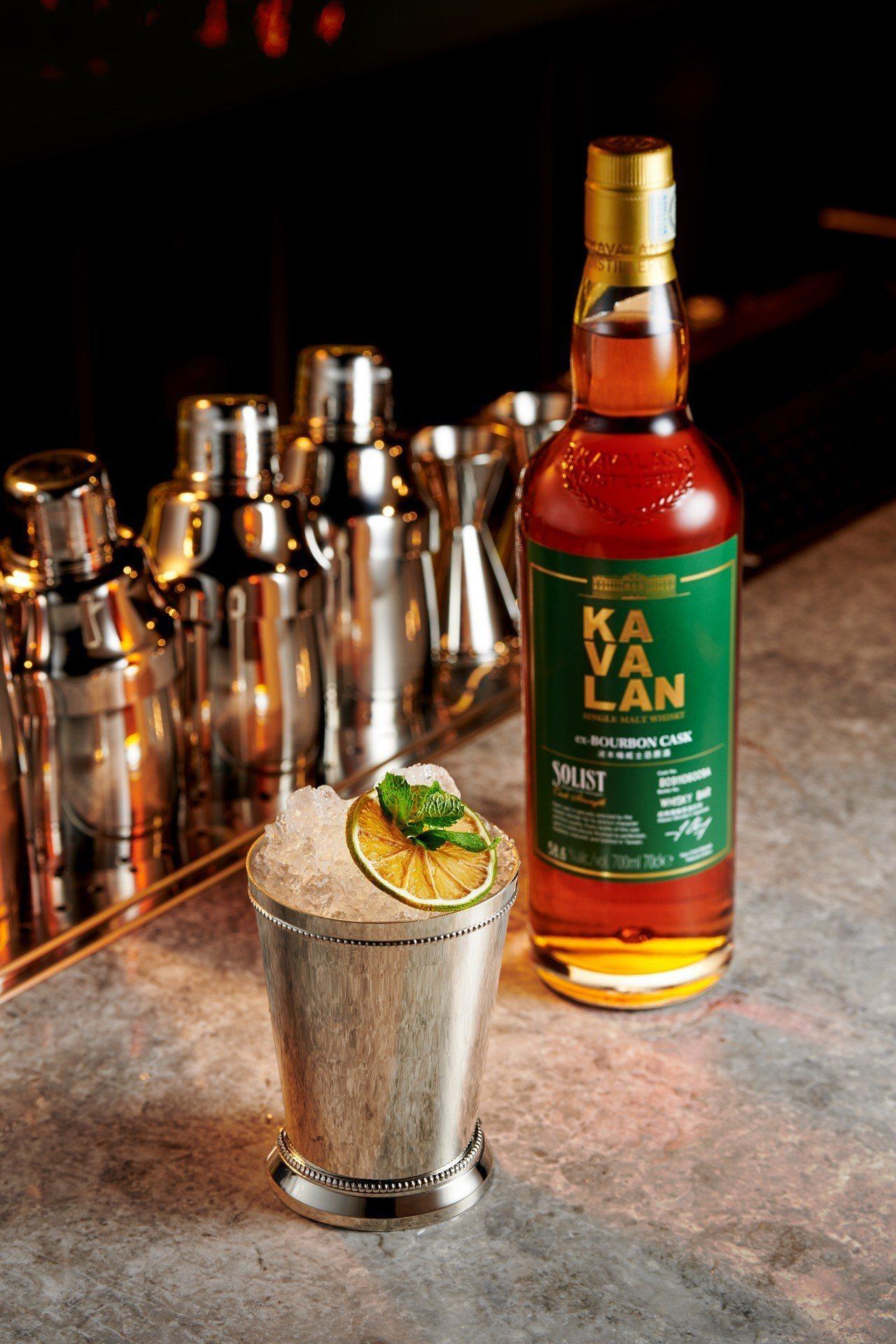 使用榮獲三座世界冠軍獎盃的噶瑪蘭經典獨奏波本桶威士忌原酒為基底調製的「Mint ...