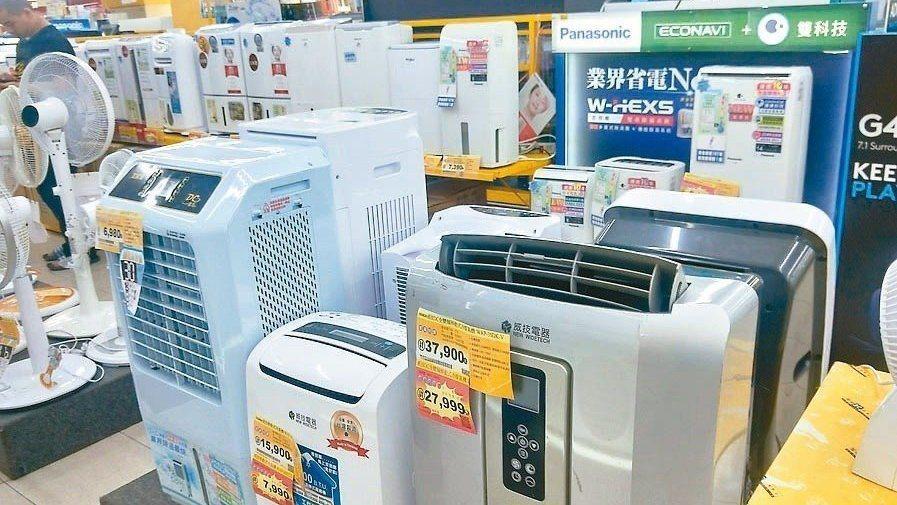 凡購買能源效率第一、二級的電冰箱、冷暖氣機或除濕機,每台最高可減徵2,000元貨...