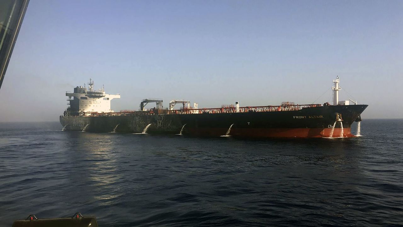 挪威籍的Front Altair油輪6月13日所攝的檔案照。美聯社