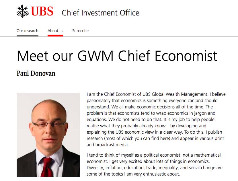 瑞銀全球財富管理首席經濟學家Paul Donovan,針對中國消費者價格指數(C...