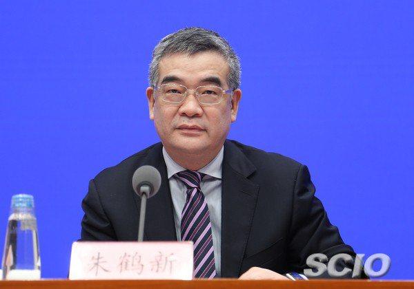 中國人民銀行(大陸央行)副行長朱鶴新。國務院新聞辦公室