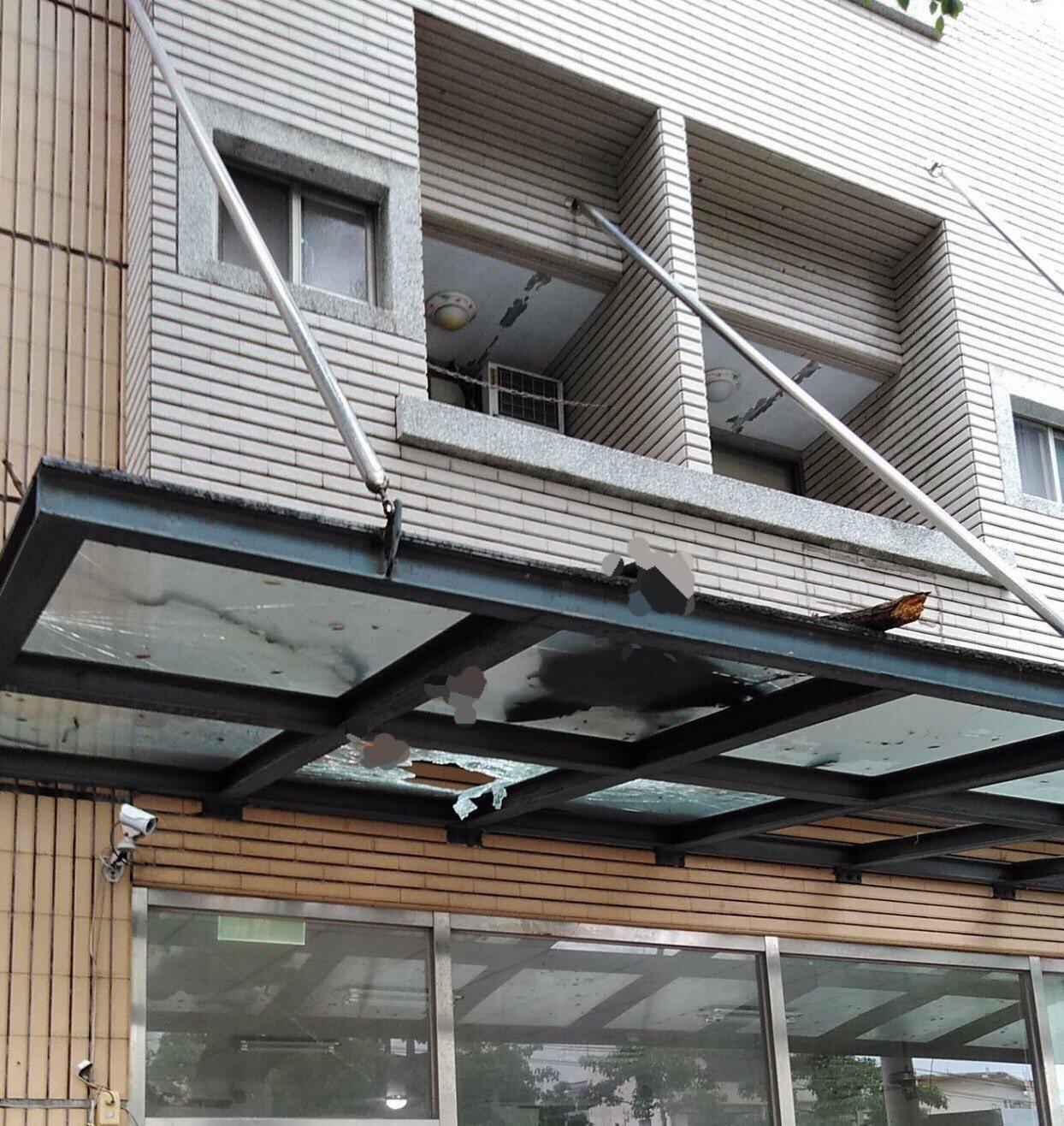 台中市沙鹿區台灣大道七段一處大樓,今天上午8時許驚傳墜樓事件。記者余采瀅/翻攝