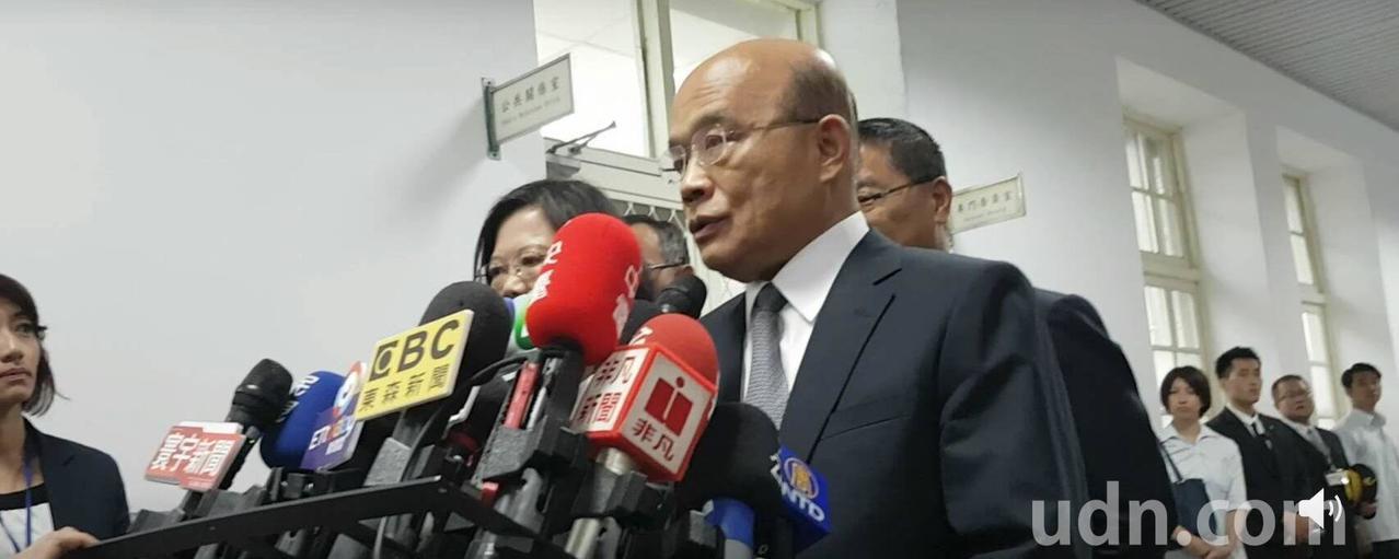 針對高雄市長韓國瑜出席行政院會,行政院長蘇貞昌說,高雄發生20例登革熱,他在會中...
