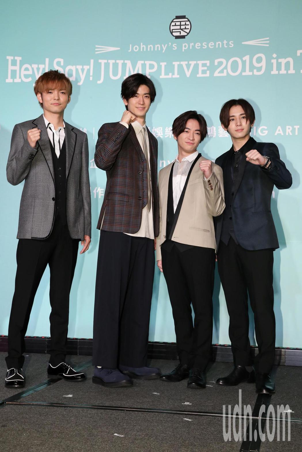 日本傑尼斯男子偶像團體Hey! Say! JUMP來台舉辦記者會,宣傳即將在台灣...