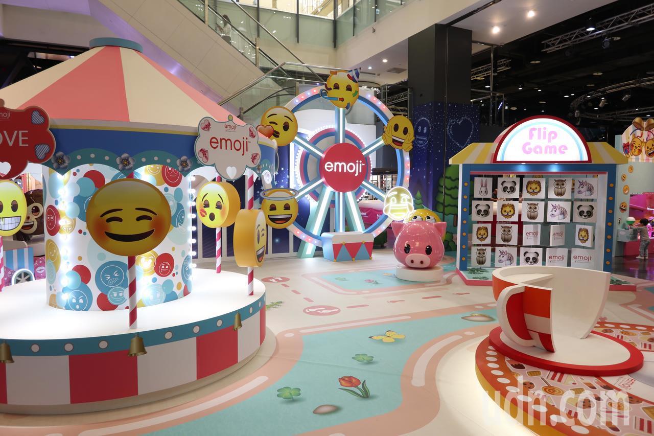 桃園台茂購物中心歡慶20週年,今年6月20日至7月8日舉行「emoji大型主題裝...