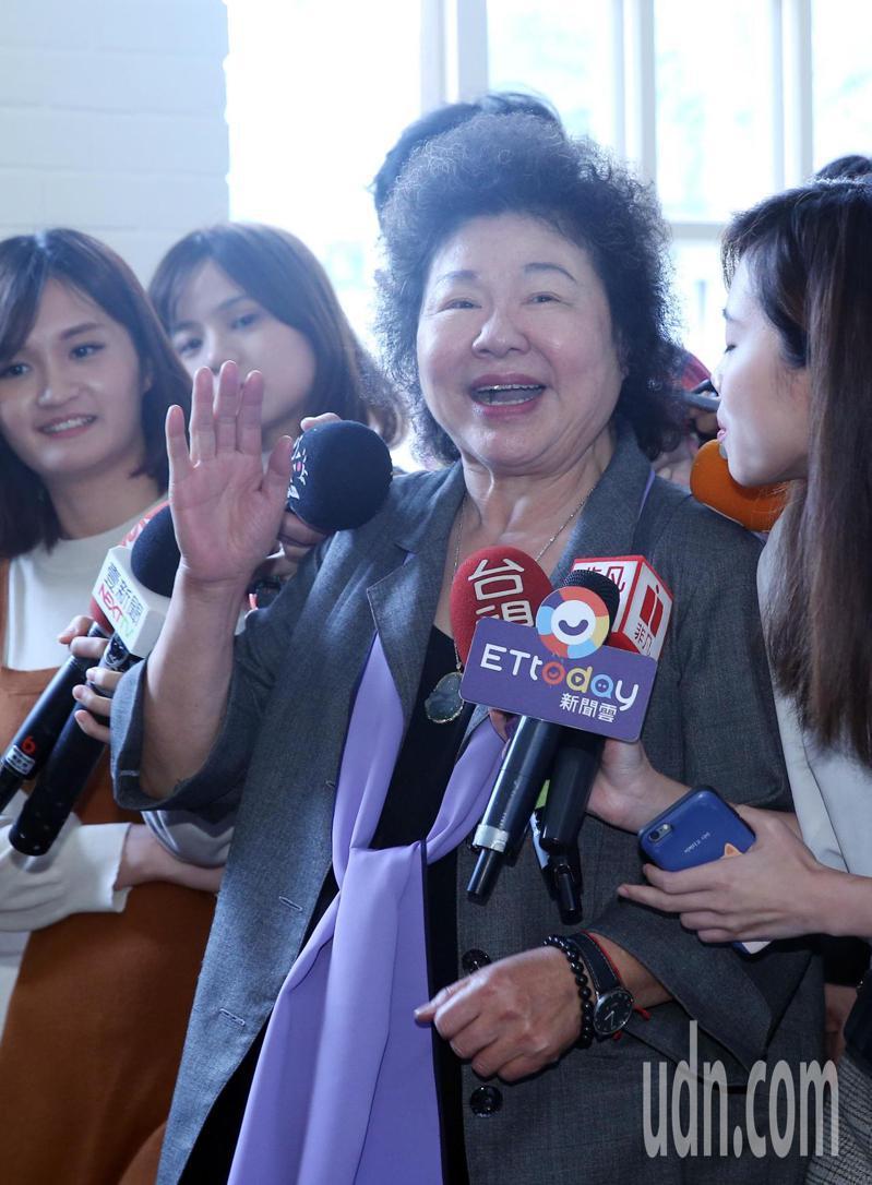 總統府秘書長陳菊表示,賴清德是成熟的人,對他有信心,而「賴院長永遠是我兄弟」。記者曾吉松/攝影