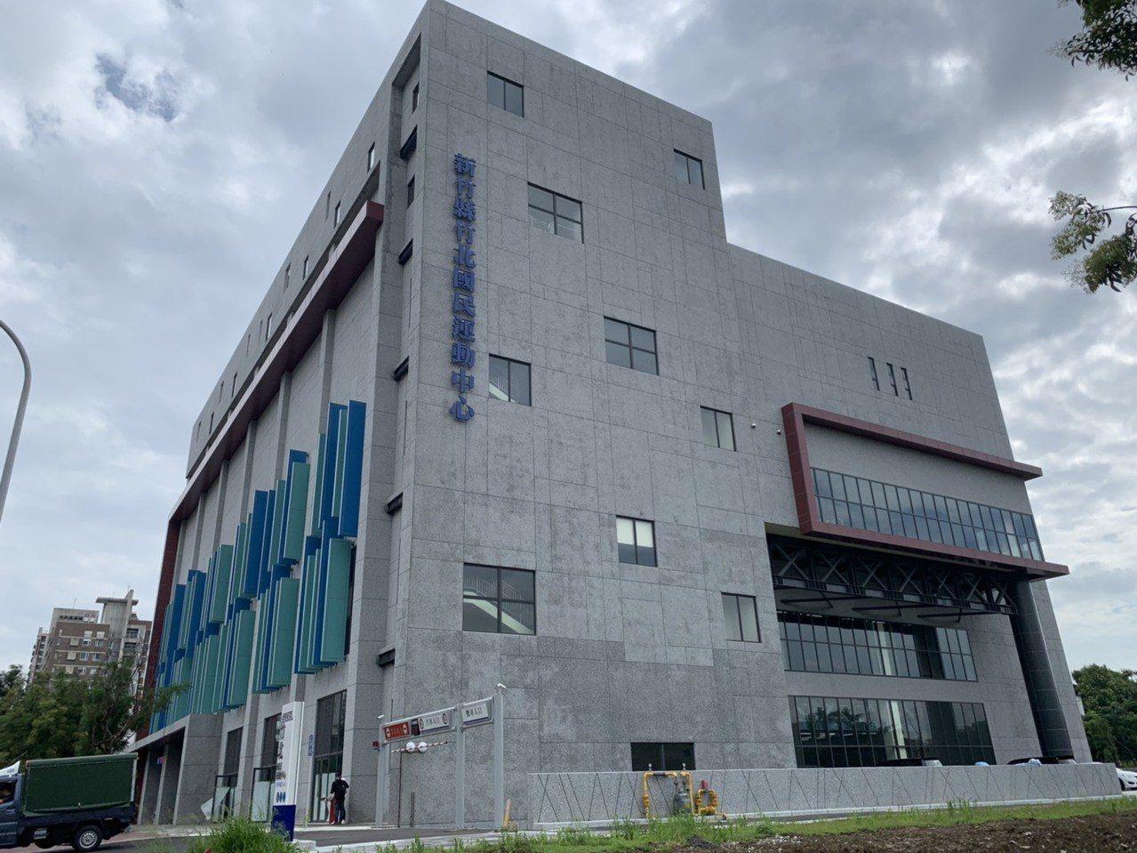 去年10月完工的新竹縣竹北國民運動中心,目前還未營運。記者陳斯穎/攝影