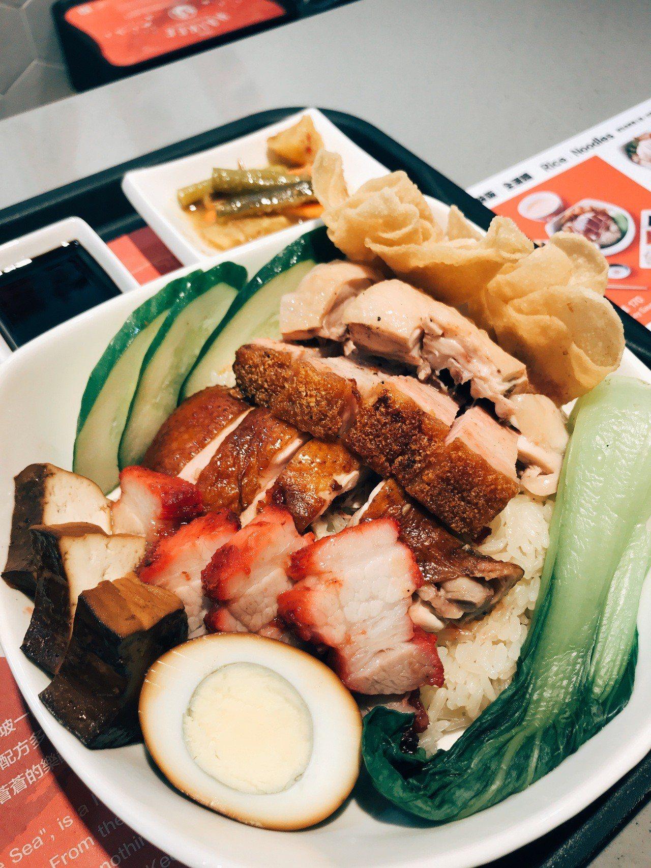 海記在台灣推出的配菜相當豐富。記者江佩君/攝影