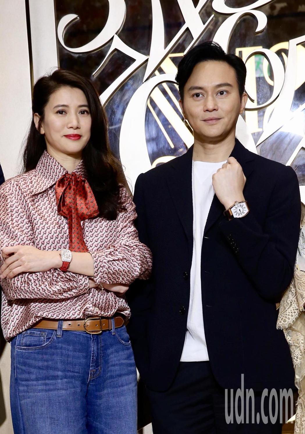 張智霖與太太袁詠儀出席手錶專賣店開幕活動。記者徐兆玄/攝影
