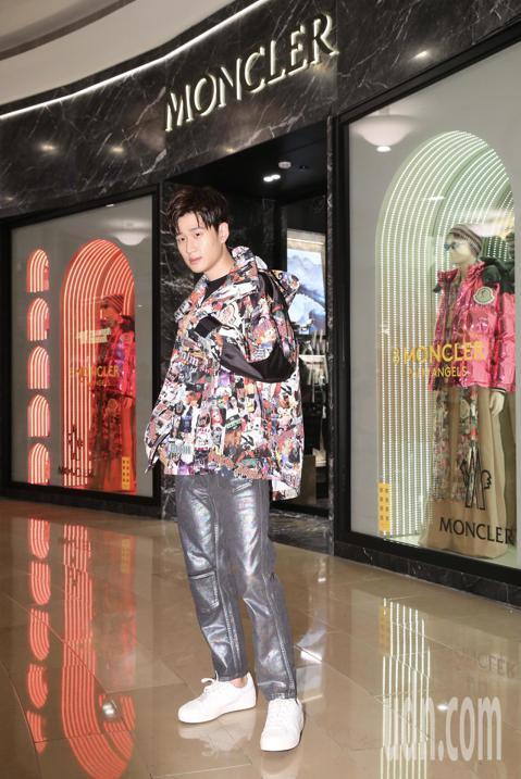 服飾品牌MONCLER在台北101發表8 MONCLER PALM ANGELS系列新品,邀請藝人周興哲代言。