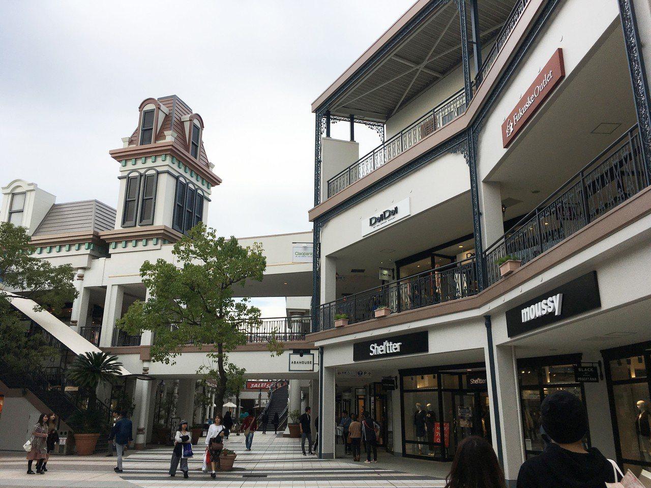 三井購物城長島爵士夢內有各大品牌進駐。圖/中部國際機場新特麗亞提供