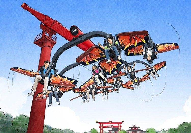 樂高樂園全新「忍者旋風」主題園區將於7月1日開放。圖/LEGOLAND® Jap...