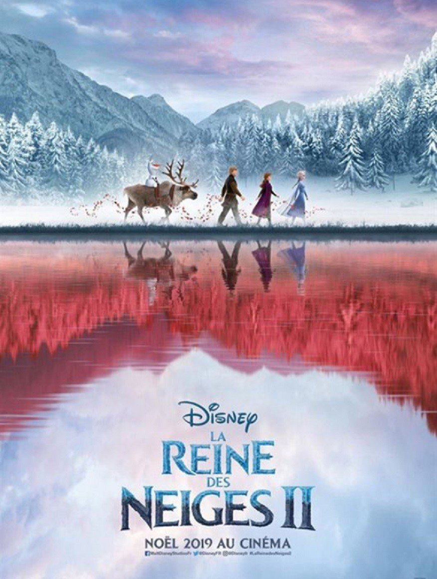 「冰雪奇緣2」法國版海報畫面別緻。圖/摘自allocine