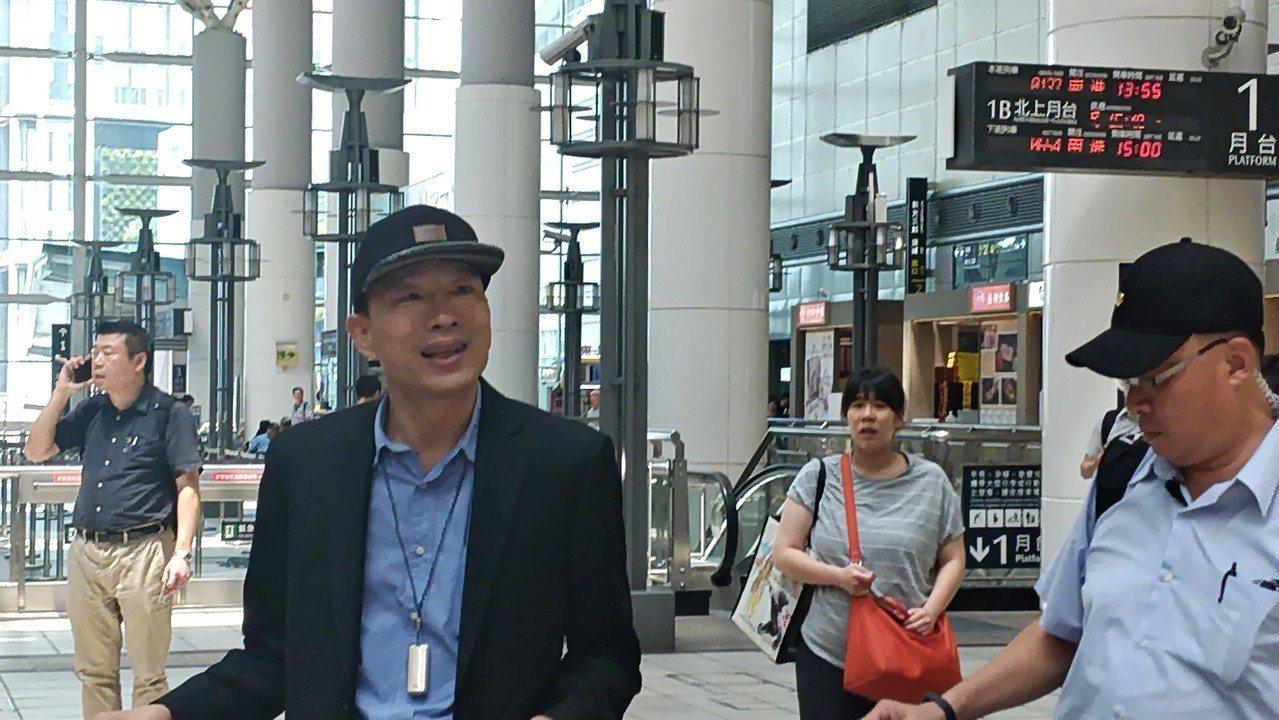 高雄市長韓國瑜日前參加行政院會後,不滿行政院公布剪輯影片。 圖/聯合報系資料照片
