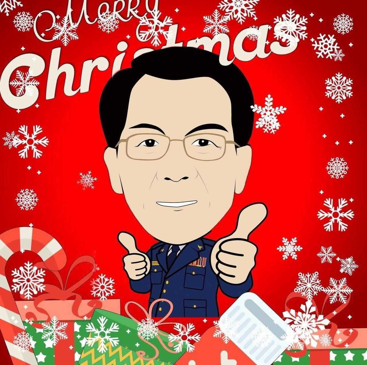 應景耶誕節頭像。 圖/擷取自TCPB局長室粉專