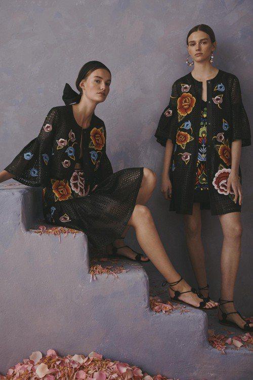 「卡羅琳娜・海萊拉」洞洞皮革外套的刺繡圖案,被指抄襲墨西哥中部伊達爾戈州「特南戈...