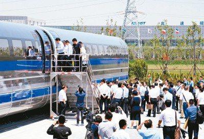 中國大陸研發的時速600公里高速磁浮列車,原定2020年研發出「試驗樣車」,沒想...