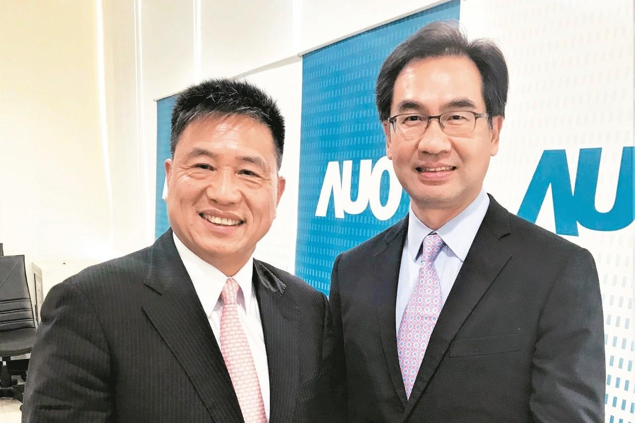 友達董事長彭双浪(左)及總經理蔡國新。 記者李珣瑛/攝影