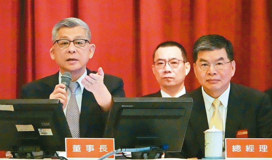 國泰金董座蔡宏圖(左) 記者杜建重/攝影
