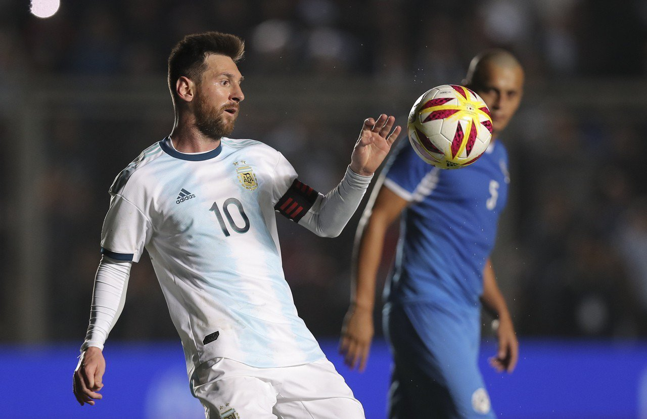 梅西再次領銜阿根廷參加美洲盃。 世界日報