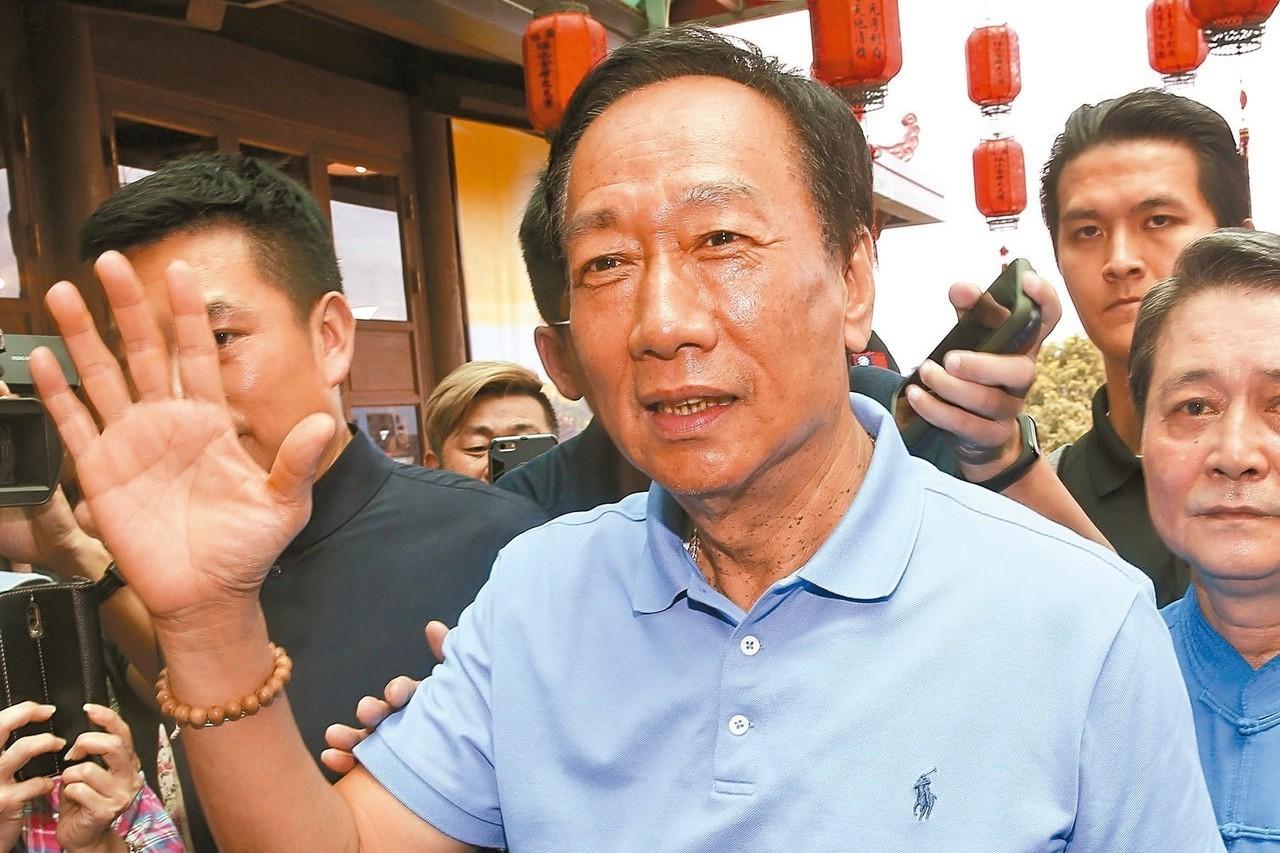 國民黨總統初選參選人郭台銘。 圖/聯合報系資料照片