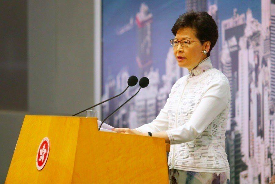 香港特首林鄭月娥下午宣布暫緩修例。聯合報特派記者王騰毅/攝影