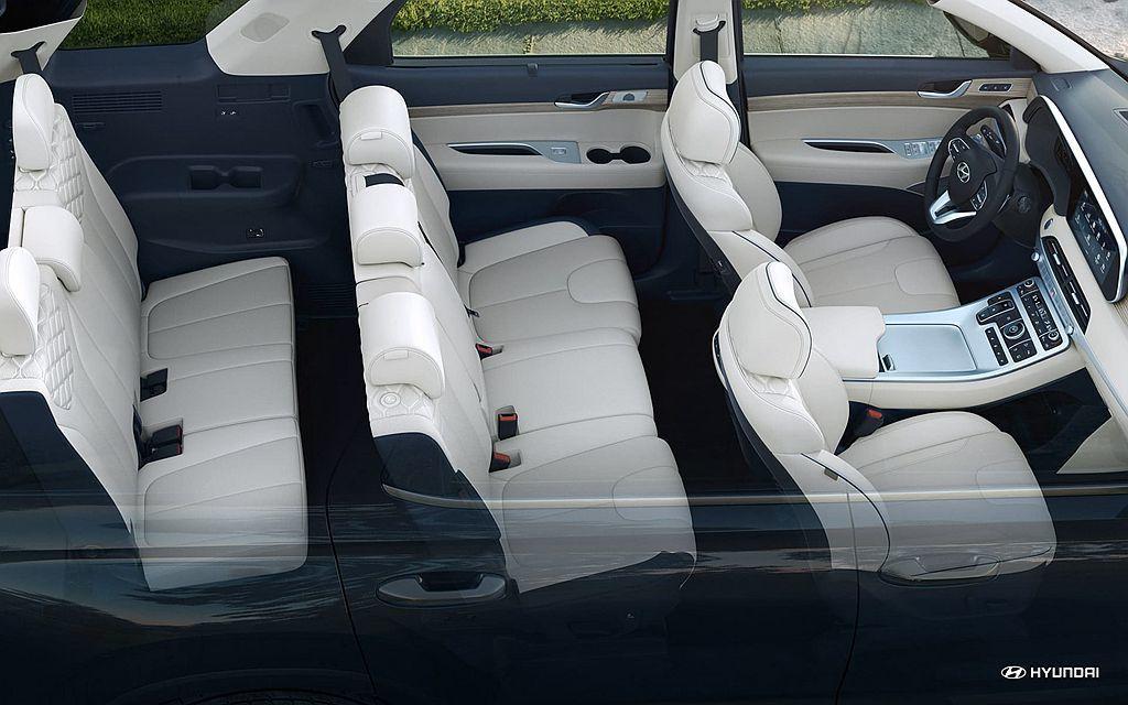 Hyundai Palisade SE車型起就配有8座位、LED日行燈、18吋輪...