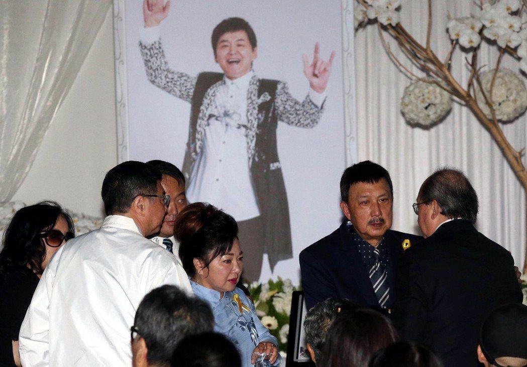 賀一航告別式友人齊出席。記者林俊良/攝影
