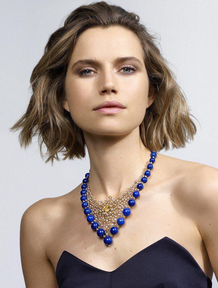 卡地亞MAGNITUDE頂級珠寶系列ÉQUINOXE項鍊,黃K金鑲嵌15.48...