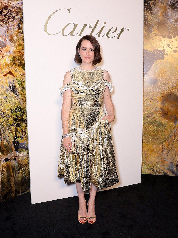 克萊兒芙伊出席卡地亞MAGNITUDE 頂級珠寶系列發表晚宴。圖/卡地亞提供