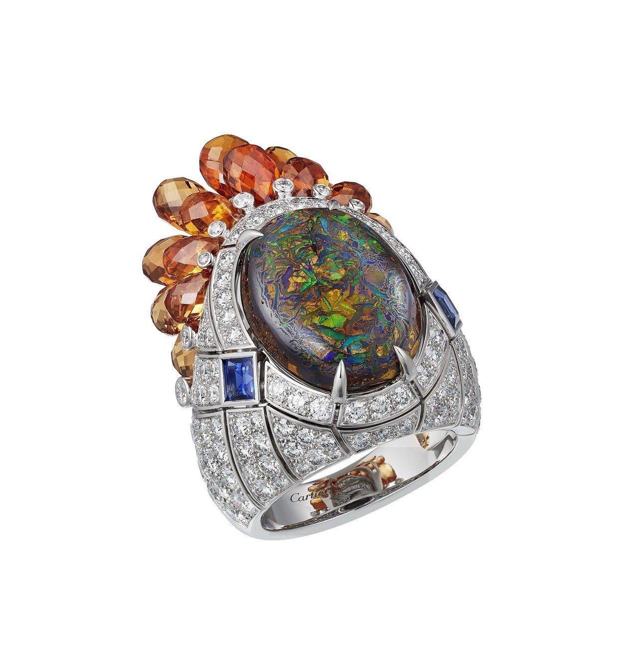 卡地亞MAGNITUDE頂級珠寶系列ZEMIA戒指,白K金鑲嵌8.95克拉凸圓形...