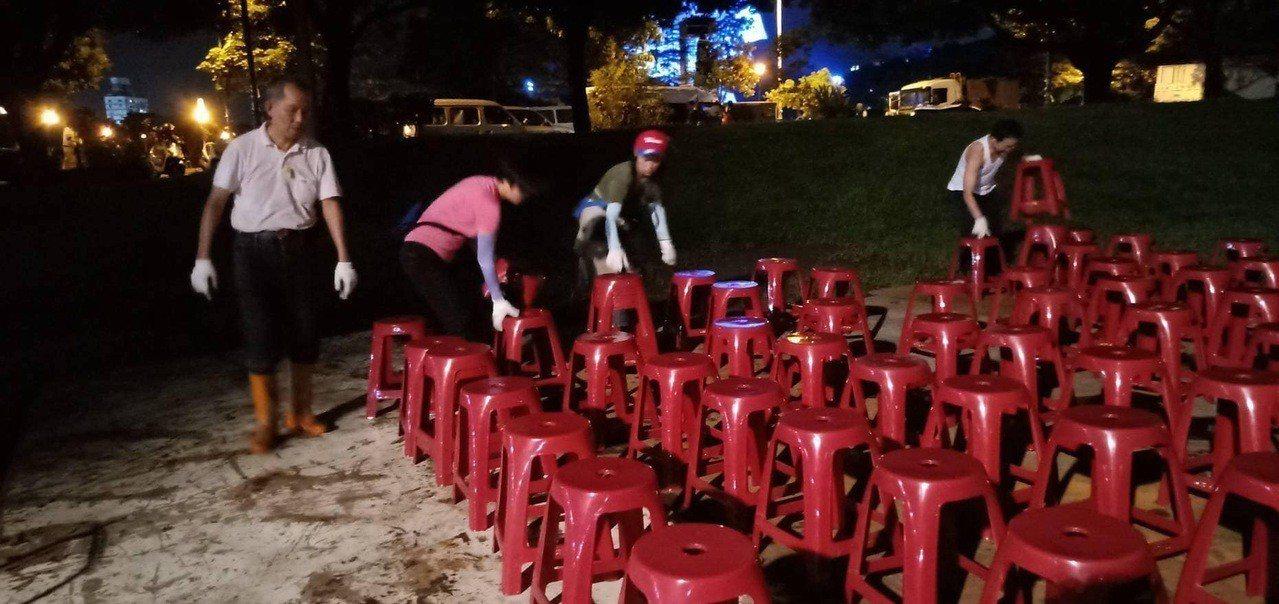 韓國瑜今天將在雲林造勢,妻舅雲林縣議員李明哲昨晚在臉書發文,感謝主動在會場協助的...