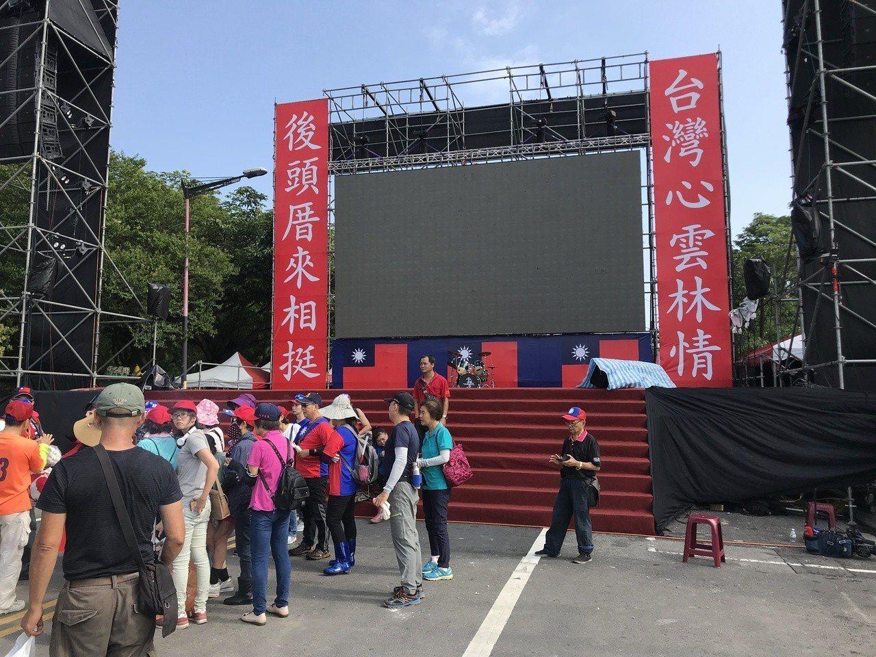 雲林女婿、高雄市長韓國瑜第三場造勢今天在雲林縣斗六人文公園舉辦。記者姜宜菁/攝影
