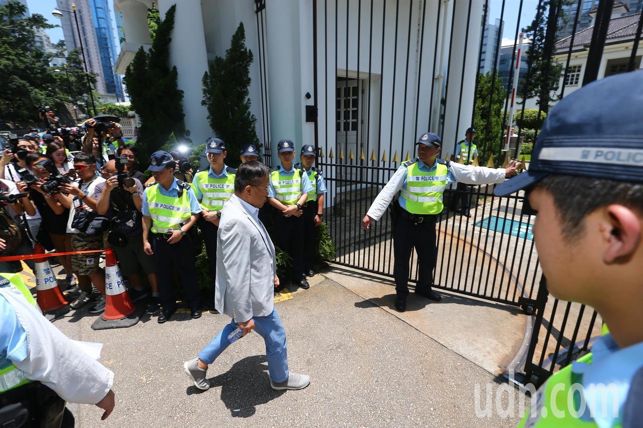 香港特首林鄭月娥中午在禮賓府約見建制派議員。特派記者王騰毅/攝影