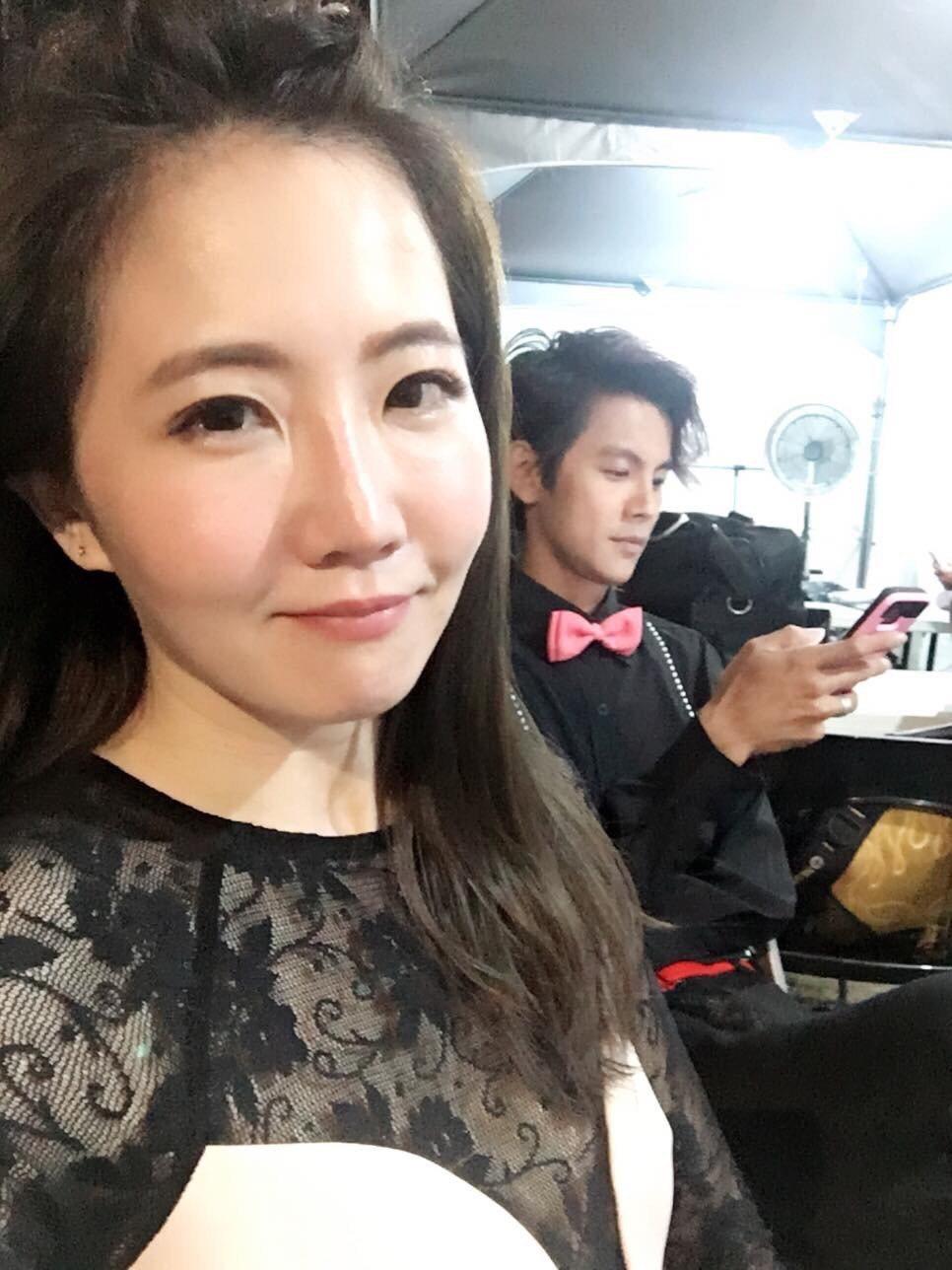 阿翔(右)和謝忻爆出不倫戀。圖/謝忻臉書