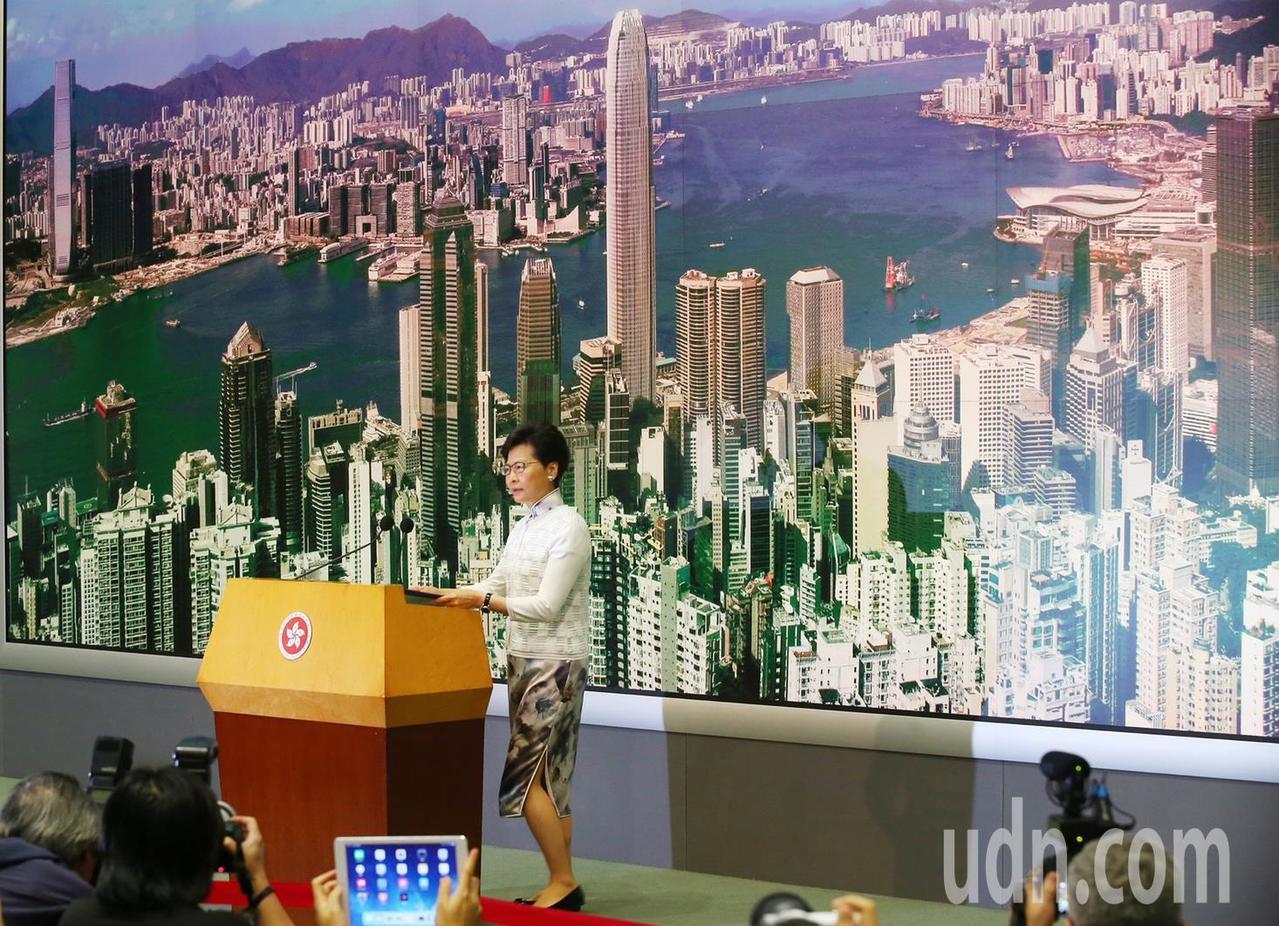 香港特區政府行政長官林鄭月娥宣布暫緩「逃犯條例」修訂。特派記者王騰毅/攝影